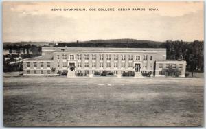 Cedar Rapids, Iowa Postcard Men's Gymnasium, COE COLLEGE Artvue c1930s Unused