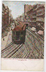 Wabash Ave Elevated RR N from Van Buren Chicago 1911