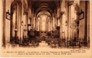 CPA   Église de Mozac Vue intérieure -Colonnes,Chapitaux et Nef latérale(244658)
