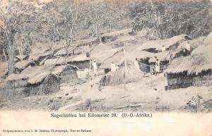 German East Africa Tanzania Dar es Salaam Negerhuetten bei Km 28 D.O. Afrika