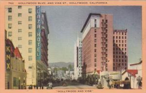 California Hollywood Hollywood Boulevard and Vine Street