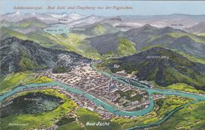 Salzkammergut, Bad Ischl und Umgebung aus der Vogelschau, Salzburg, Austria, ...