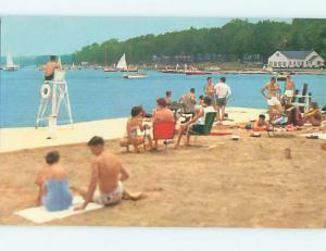 Unused Pre-1980 SCENE AT BEACH Chautauqua Lake New York NY M6549-14