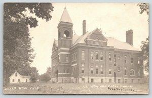 Winamac Indiana~SE View High School~House~Long Pipe Fence~1909 RPPC
