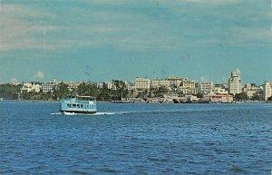 Puerto Rico Post card Old Vintage Antique Postcard San Juan Bay Postal used u...