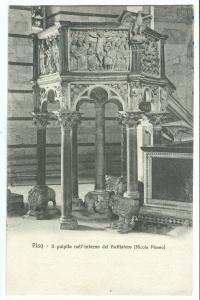 Italy, Pisa, Il Pulpito neli' interno del Battistero, early 1900s Postcard