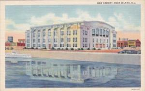 Illinois Rock Island The New Armory Curteich