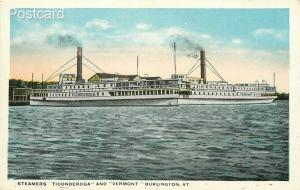 Steamship Ticonderoga, Vermont, Burlington, McAuliffee