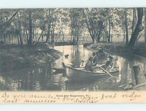 Pre-1907 WATER SCENE Saegerstown Pennsylvania PA A0845