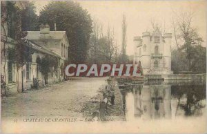 Old Postcard 93 Castle of chantilly ponds comelle Fishing Fisherman