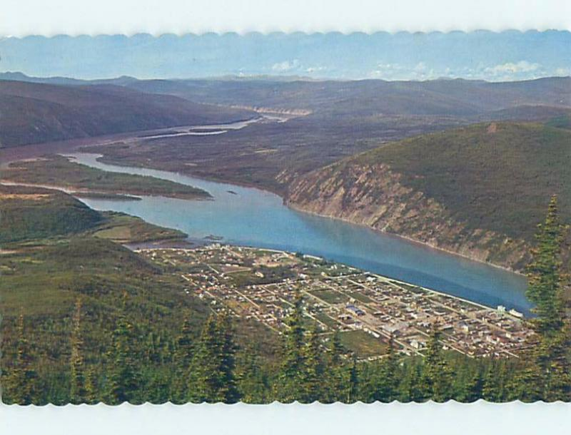 Unused Pre-1980 AERIAL VIEW Dawson City Yukon Territory YT A3902