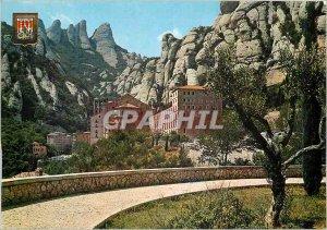 Postcard Modern Montserrat Monastery and Madeleine site Rocks