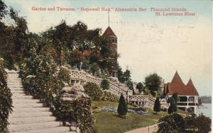 THOUSAND ISLANDS, Ontario, Canada, 1900-1910's; Garden And Terraces, Hopewell...