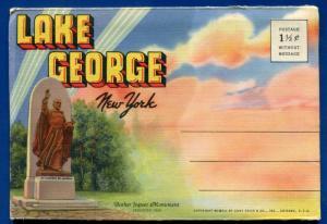 Lake George New York ny souvenir postcard folder #6