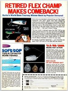 1981 Burke's Vintage Fishing Lure  Print Ad Pop Top Lure Man Cave F1