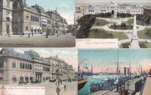 Argentina Casa De Gobierno Buenos Aires 4x Old Postcard s