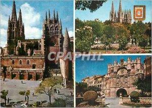 Postcard Modern Garden Burgos Catedral La Catedral