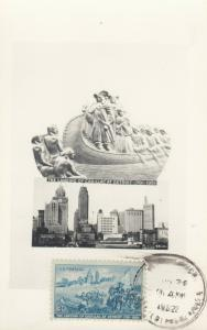 RP: DETROIT , Michigan , 1952 ; Landing of Cadillac & Skyline