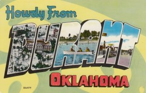 DURANT Oklahoma, 50-60s; Large Letter, 3-Views