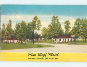 Linen PINE BLUFF MOTEL Pine Bluff Arkansas AR M6461