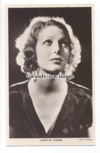 b4833 - Film Actress - Loretta Young, Picturegoer postcard No.395c