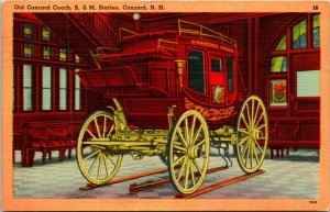 Concord NH Old Concord Coach Postcard used (31041)