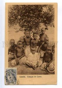 235481 Portuguese Angola LOANDA semi-nudes black children OLD