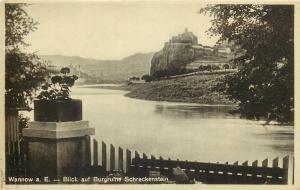 Czech R. Strekov Castle Wannow a. Elbe River