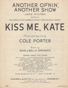 Another Opening Op'Nin Another Show Kiss Me Kate Sheet Music
