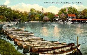 NY - New York City. Central Park, Lake and Boat House