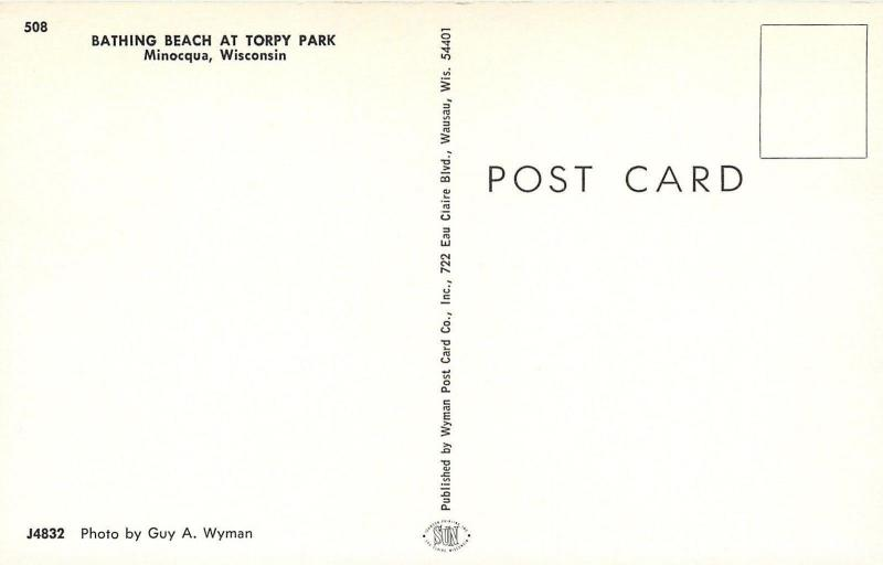 Minocqua Wisconsin~Torpy Park~Bathing Beach~Dock Fun~1960s