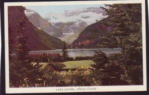 P1487 vintage unused postcard beautiful lake louise alberta canada