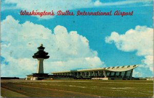 Vintage Dulles International Airport Washington DC Postcard