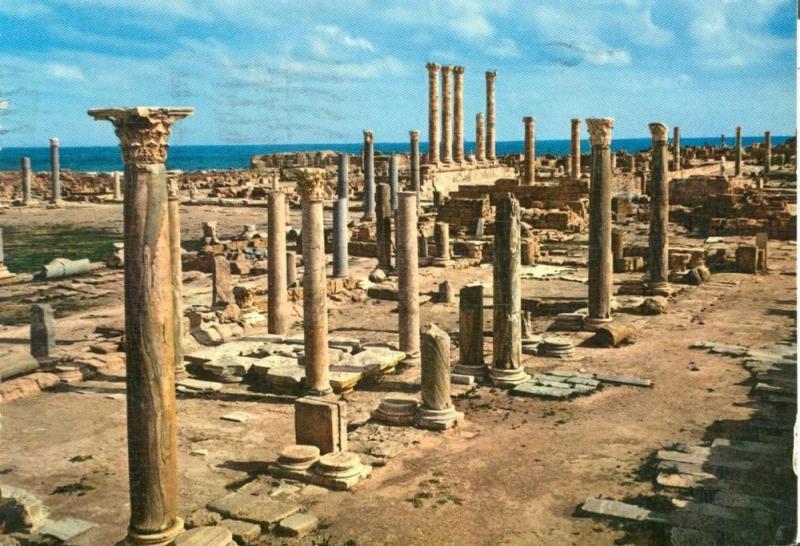 Libya, Sabratha, 1966 used Postcard