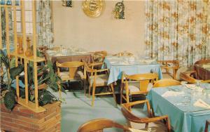 Murfreesboro Tennessee~Al Sullivan Restaurant Dining Room View~1950s Postcard