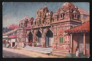 102296 Ceylon Colombo hindoo Temple Vintage TUCK PC