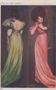 Colonial Dame & Virginia Belle Glamour Gems Of Art Series Postcard