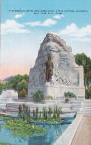 Utah Salt Lake City The Mormon Battalion Monument On State Capitol Grounds