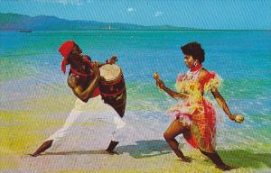 Native Entertainers On Beach In Jamaica