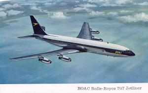 BOAC Rolls-Royce 707 Jetliner, Postcard, unused