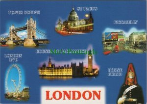 London Postcard - Views of London, England   RR10385