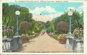 Commonwealth Mall, Public Garden, Boston, Mass.