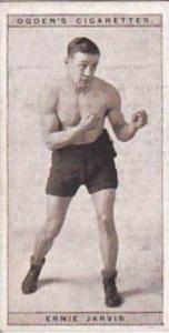 Ogdens Vintage Cigarette Card Pugilists In Action 1928 No 21 Ernie Jarvis