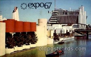 Montreal, Canada Exposition, 1967 expo 67 1967 light postal marking on front ...