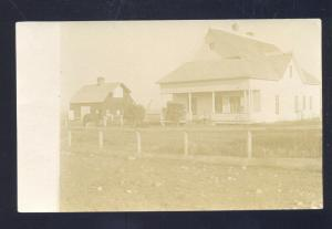 RPPC HAINES OREGON RESIDENCE STREET SCENE HOUSE VINTAGE REAL PHOTO POSTCARD