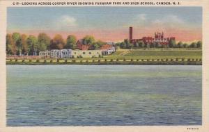 Looking Across Cooper River showing Farnham Park and High School, Camden, New...