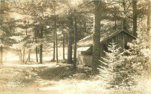 Cabin Raymond Maine RPPC Photo Postcard 11765