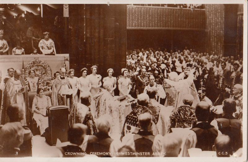 Royalty Coronation Crowning Ceremony in Westminster Abbey
