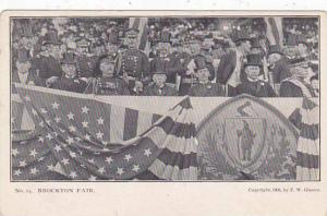 Massachusetts Brockton Fair Post Card No 14 Crowd In The Stands