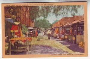 P555 JLs 1930-45 linen olyera street scene open market los angeles calif